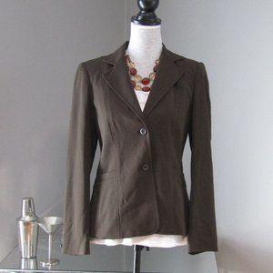NWT Rafaella Brown Blazer Size 6